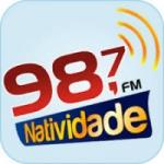 Logo da emissora Rádio Natividade 98.7 FM