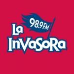 Logo da emissora Radio La Invasora 98.9 FM