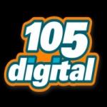 Logo da emissora Radio 105 Digital 105.3 FM