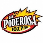 Logo da emissora Radio La Poderosa 107.7 FM