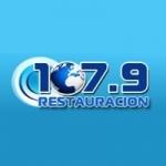 Logo da emissora Radio Restauración 107.9 FM