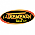 Logo da emissora Radio La Tremenda 98.5 FM