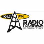 Logo da emissora Radio Universidad de Guadalajara 104.7 FM