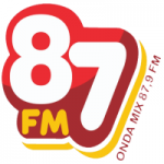 Logo da emissora Rádio Onda Mix 87.9 FM
