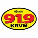 Logo da emissora KRVM 91.9 FM