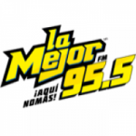 Logo da emissora Radio La Mejor 95.5 FM