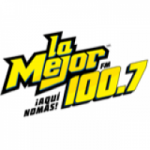 Logo da emissora Radio La Mejor 100.7 FM