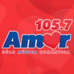Logo da emissora Radio Amor 105.7 FM
