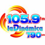 Logo da emissora Radio La Dinámica 105.9 FM