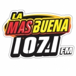 Logo da emissora Radio La Más Buena 107.1 FM