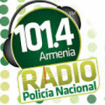 Logo da emissora Radio Policía Nacional 101.4 FM