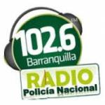 Logo da emissora Radio Policía Nacional 102.6 FM