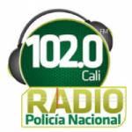 Logo da emissora Radio Policía Nacional 102.0 FM