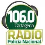 Logo da emissora Radio Policía Nacional 106.0 FM