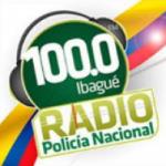 Logo da emissora Radio Policía Nacional 100.0 FM