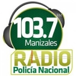 Logo da emissora Radio Policía Nacional 103.7 FM
