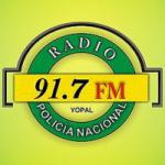 Logo da emissora Radio Policía Nacional 91.7 FM