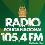 Logo da emissora Radio Policía Nacional 105.4 FM