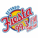 Logo da emissora Radio Estéreo Fiesta 99.3 FM