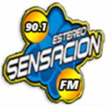 Logo da emissora Radio Estéreo Sensación 90.1 FM