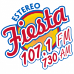Logo da emissora Radio Estéreo Fiesta 107.1 FM