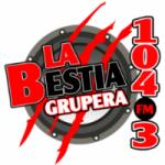 Logo da emissora Radio La Bestia Grupera 104.3 FM