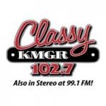 Logo da emissora KMGR 102.7 FM