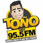 Logo da emissora Radio Toño 95.5 FM