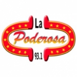 Logo da emissora Radio La Poderosa 93.1 FM