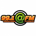 Logo da emissora Radio Arroba 99.1 FM
