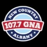 Logo da emissora WGNA 107.7 FM