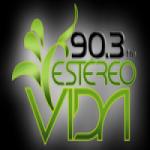 Logo da emissora Radio Estéreo Vida 90.3 FM
