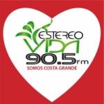 Logo da emissora Radio Estéreo Vida 90.5 FM