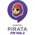 Logo da emissora Radio Capital Pirata 106.3 FM