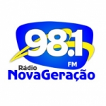 Logo da emissora Rádio Nova Geração 98.1 FM
