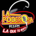 Logo da emissora Radio La Poderosa 91.1 FM