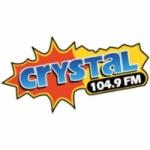 Logo da emissora Radio Crystal 104.9 FM