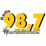Logo da emissora Rádio Comunitária de Paracambi 98.7 FM
