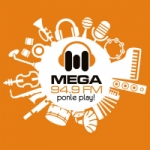 Logo da emissora Radio Mega 94.9 FM
