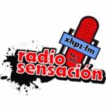 Logo da emissora Radio Sensación 96.7 FM