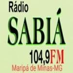 Logo da emissora Rádio Sabiá 104.9 FM