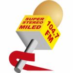 Logo da emissora Miled Radio 104.7 FM