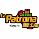Logo da emissora Radio La Patrona 98.1 FM