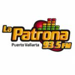Logo da emissora Radio La Patrona 93.5 FM