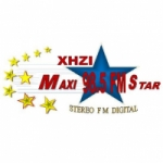 Logo da emissora Radio Maxistar 98.5 FM
