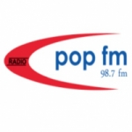 Logo da emissora Radio Pop 98.7 FM