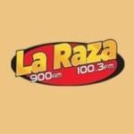 Logo da emissora Radio La Raza 900 AM 100.3 FM
