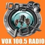 Logo da emissora Radio Vox 100.5 FM