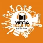 Logo da emissora Radio Mega 102.9 FM