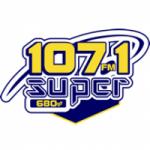 Logo da emissora Radio Súper 107.1 FM